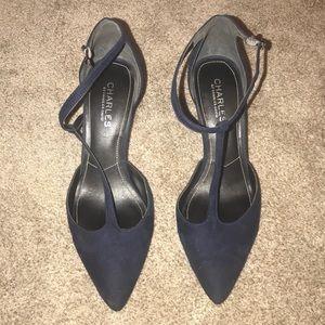 Navy blue medium heels